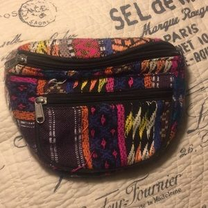 Tribal knit colorful fanny pack
